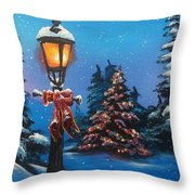 A Holiday Carol Throw Pillow