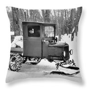 A Homemade Snowmobile Throw Pillow