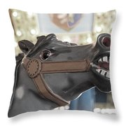 A Horse Named Bolt Throw Pillow