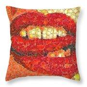 A Hot Lips Throw Pillow
