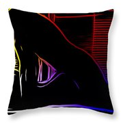 A Hot Night Throw Pillow
