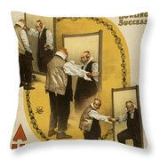 A Hot Old Time Throw Pillow