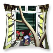 A House And Garden Cover Of A Birdcage Throw Pillow