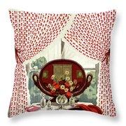 A House And Garden Cover Of A Mirror Throw Pillow