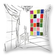 A House And Garden Cover Of Color Swatches Throw Pillow