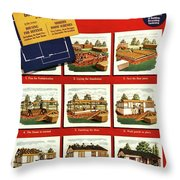 A House And Garden Cover Of Construction Stages Throw Pillow