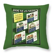 A House And Garden Cover Of Floorplans Throw Pillow