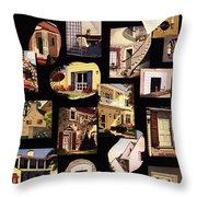 A House And Garden Cover Of House Details Throw Pillow
