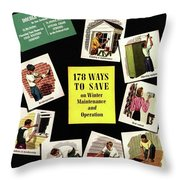 A House And Garden Cover Of Renovation Throw Pillow