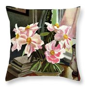 A House And Garden Cover Of Rhododendrons Throw Pillow