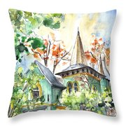 A House In Our Street In Budapest Throw Pillow