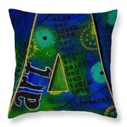 A Is For Art And Art Is Love Throw Pillow