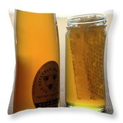 A Jar And Bottle Of Honey Throw Pillow