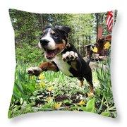A Joyful Spring Throw Pillow