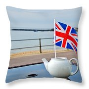 A Jubilee Cuppa Throw Pillow