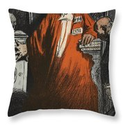 A Judge In Full Garments, Illustration Throw Pillow