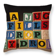 A Jug Fills Drop By Drop Throw Pillow