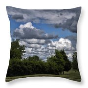 A July Cold Front Rolling By Throw Pillow