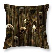A Jungle Of Ferns Throw Pillow