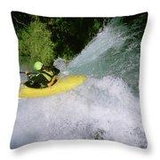 A Kayaker Running A Beautiful Spirit Throw Pillow