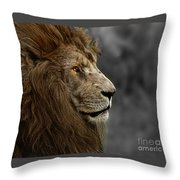 A King's Look Throw Pillow