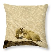 A Kiss For Mom Throw Pillow