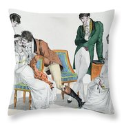 A Kissing Game Throw Pillow