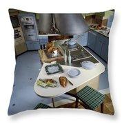 A Kitchen Designed By Ralph & Jane Bonnell Throw Pillow