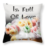 A Kitchen Is Full Of Love 14 Throw Pillow