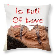 A Kitchen Is Full Of Love 4 Throw Pillow