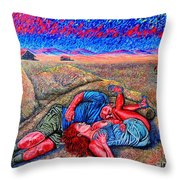 A La Campagne/at The Country/ Throw Pillow