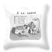 A La Carte -- Therapy Where A Placard Lists Throw Pillow