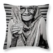 A Lady And Her Chai IIi Throw Pillow