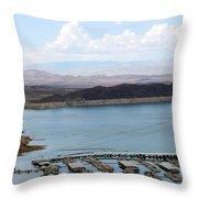 A Lake Mead Marina Throw Pillow