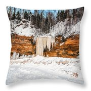 A Land Of Snow And Ice Throw Pillow
