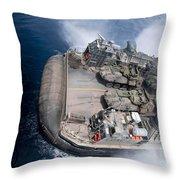 A Landing Craft Air Cushion Enters Teh Throw Pillow