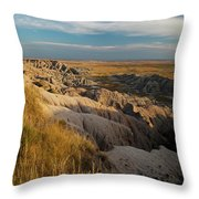 A Landscape Image Of Badlands National Throw Pillow