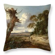 A Landscape With Two Dead Trees Throw Pillow