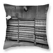 A Lawyer In His Library Throw Pillow