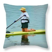 A Lazy Afternoon On The Lake Throw Pillow