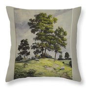A Lazy Day For Grazing Throw Pillow