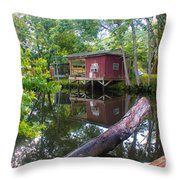 A Lazy River Day Throw Pillow