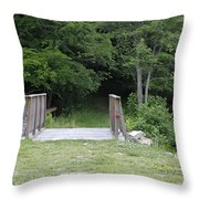 A Leisurely Stroll In Putnam County Veteran Memorial Park Throw Pillow