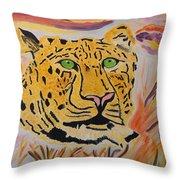 A Leopard's Gaze Throw Pillow