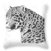 A Leopard's Watchful Eye Throw Pillow