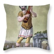 A Lictor, Bearer Of The Fasces Throw Pillow
