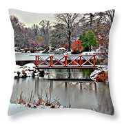 A Light Dusting Of Snow Throw Pillow