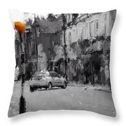 A Light On A Grey Day Throw Pillow