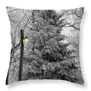 A Light Snow Throw Pillow