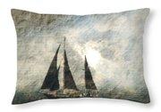 A Light Through The Storm - Sailing Throw Pillow